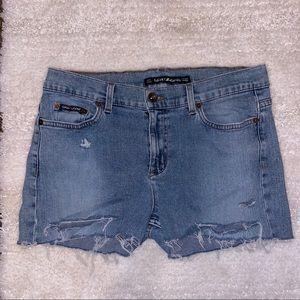 DKNY Distressed Jean Shorts   Size 6-8